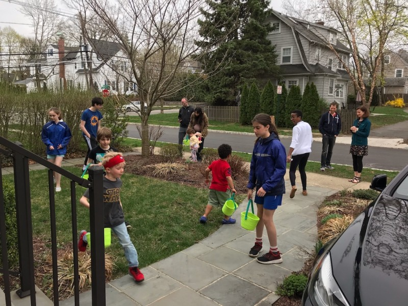 Our neighborhood Easter egg Hunt organized by Kay