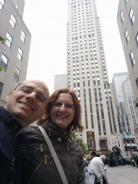 At Rockefeller Center in NYC!