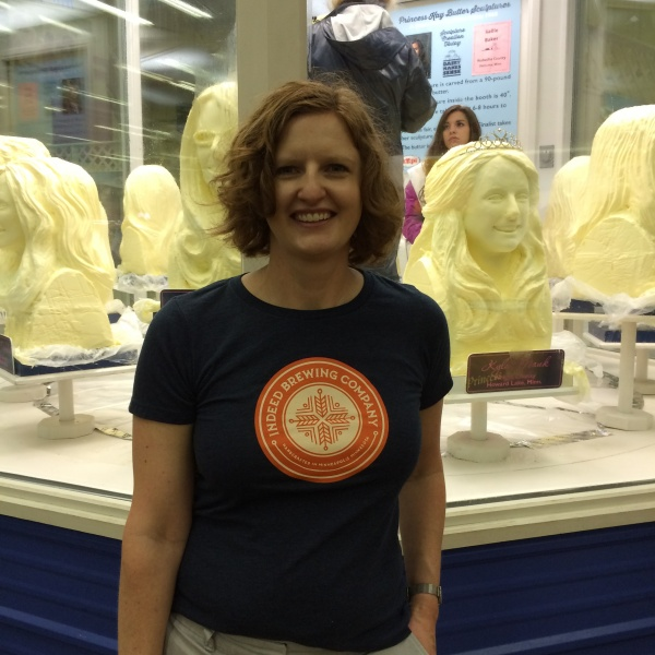 MN State Fair!  Princess Kay of the Milky Way carved in butter.