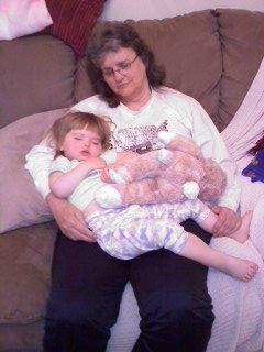 Nap on Bama Jo's lap