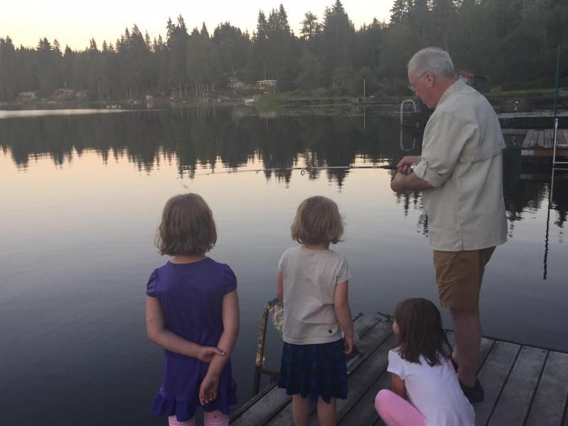 Fishing with Papa Jim (Egan's Dad)