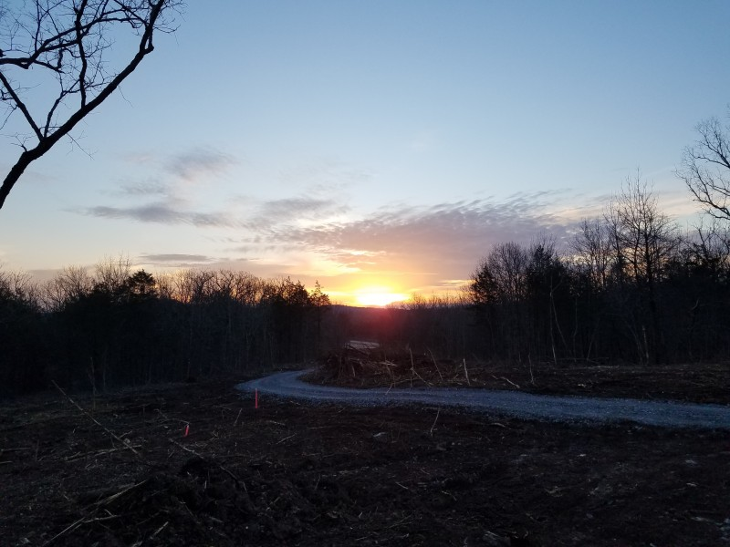 Sunrise right after we got land cleared and driveway put in.