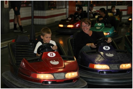 Bumper cars with Matthias