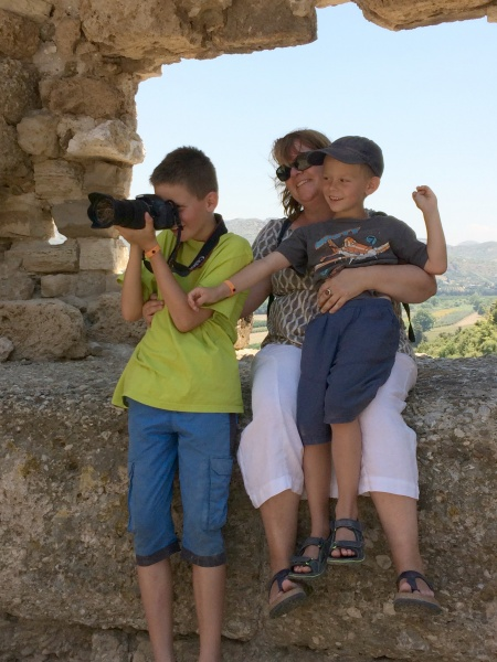 In Turkey with my cousinss kids, Matthias and Sebastian