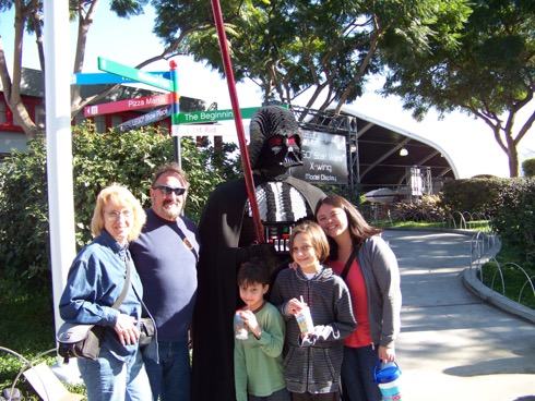 Mom, Dad, my nephews & me at LegoLand