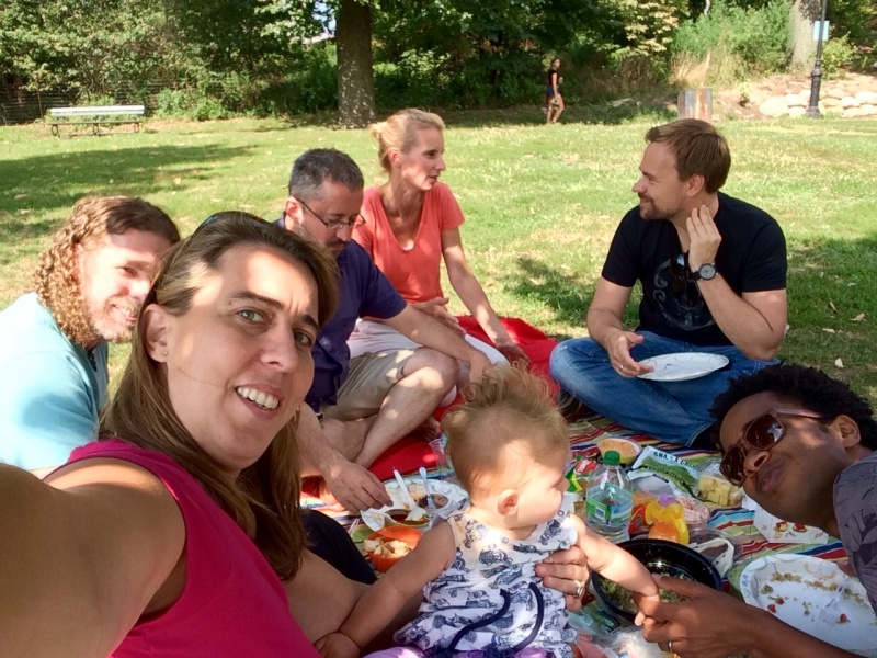 Picnic in Prospect Park with friends and work colleagues