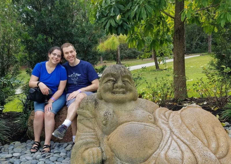 At the Japanese Gardens in Florida.