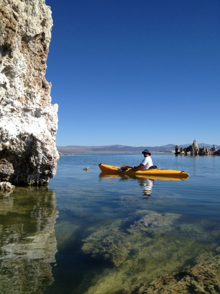 Kayaking on Mono Lake