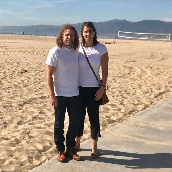 A walk by the beach in Santa Monica