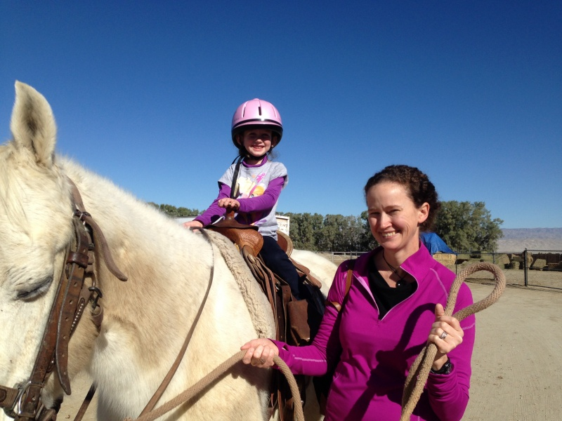 My first horseback ride!