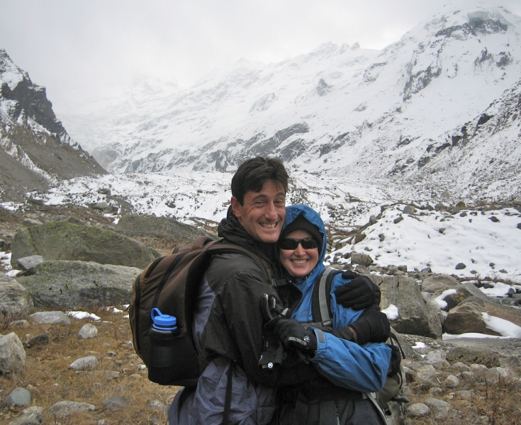 14,000 feet in the Himalayas... our last big adventure before starting our family.