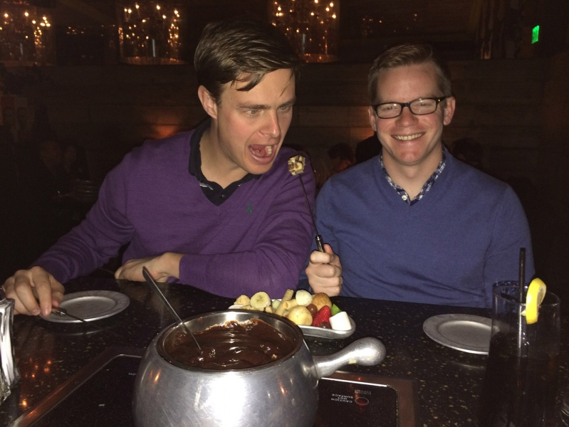 Crazy fondue night