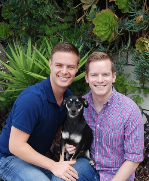 Jay, Erik, and our dog Babbo