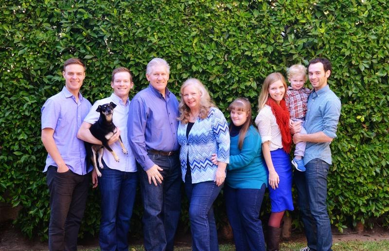 Erik's family at Thanksgiving
