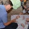 Playing with Erik's new niece Siena!