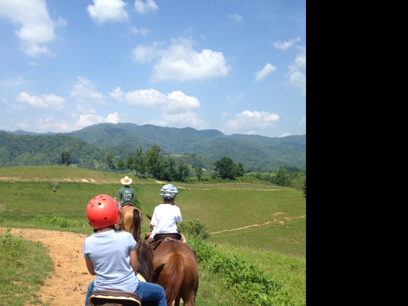 A recent horseback ride with friends