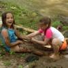 Playing at the riverbank!