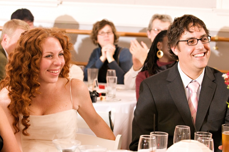At our wedding in 2008