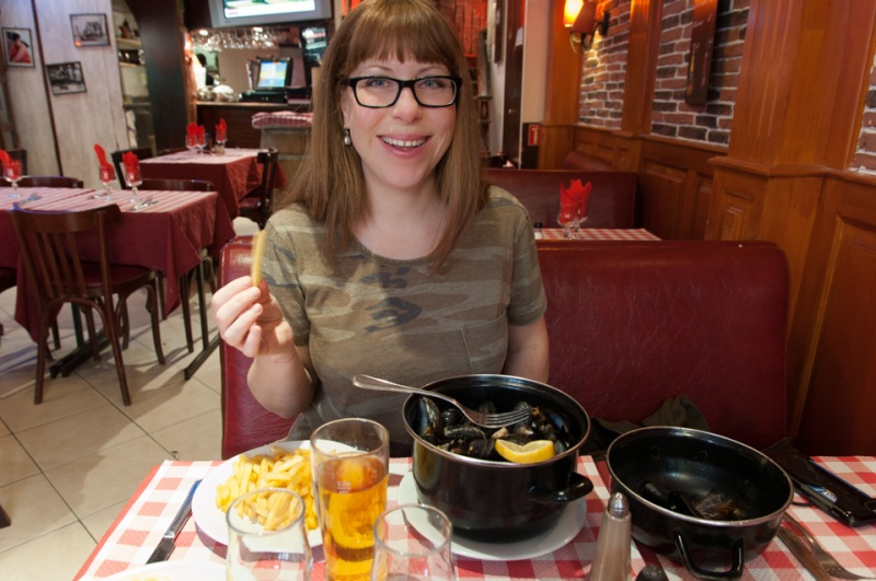 Mussels and Frites in Paris