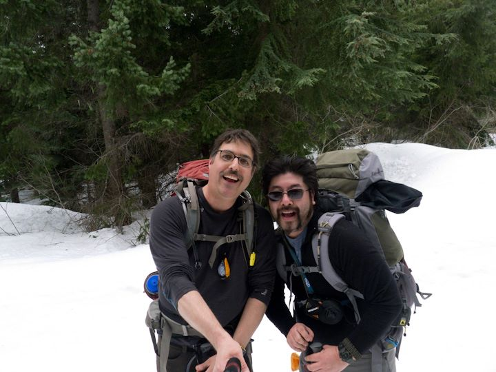 Scott with our friend, Jay, snowshoeing