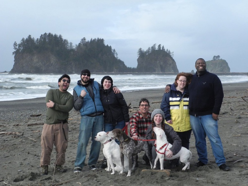 On the beach in Oregon