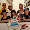 Cindy and her sister, Kim, on a cruise in Mexico with their friends.