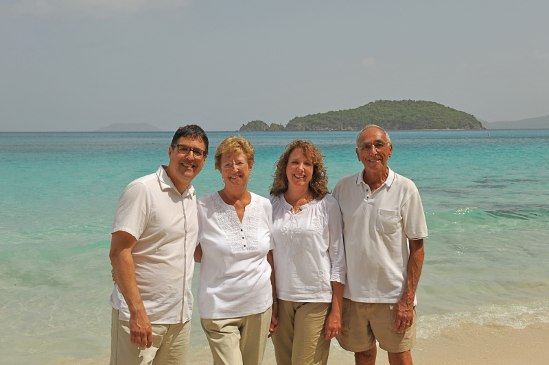 Scott and his mother, sister and father