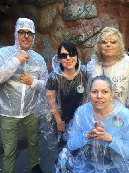 Scott with Cindy's sister, aunt and mother at Disneyland!