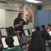Rob rehearsing his 7th grade band.