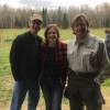 Mike, Kristia, & Kristia's Dad in Northern Minnesota