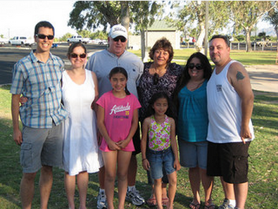 With Don's family at a family reunion