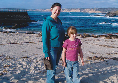 Checking out seal beach with our niece Katie