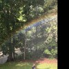 A rainbow in our backyard!!