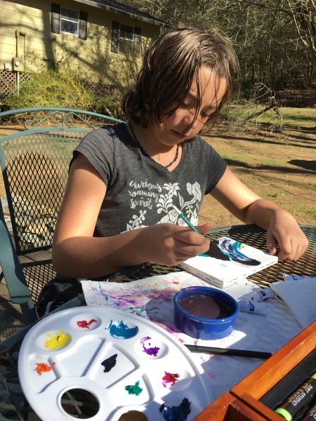 Painting on a Spring Day!