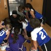 Cindy, coaching Kestin's basketball team