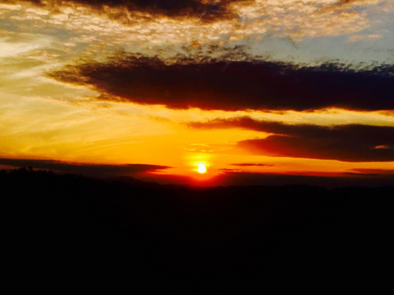 Sunset over our Mountains!  Photo proudly by Kestin!