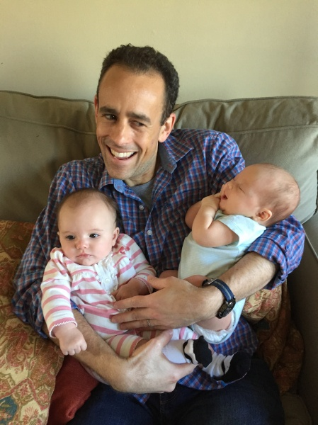 What's better than hanging out with one baby? Two babies!
