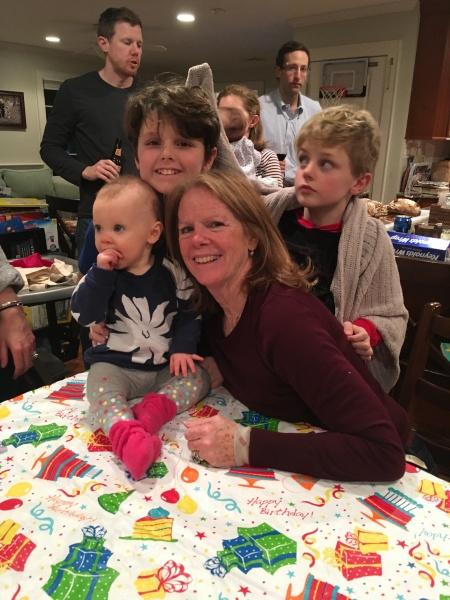 celebrating my mom's birthday
