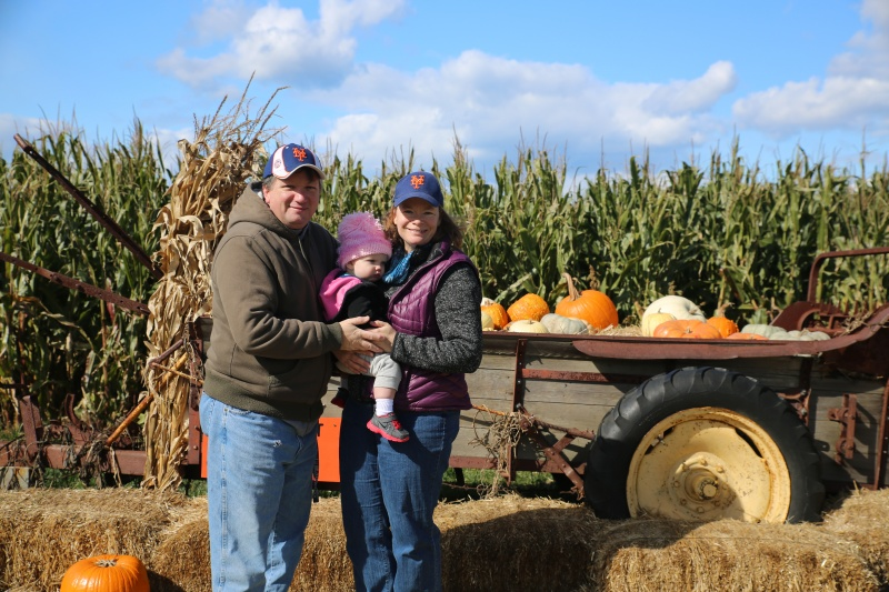 Pumpkin Picking last year - hope to be a family of 4 soon!