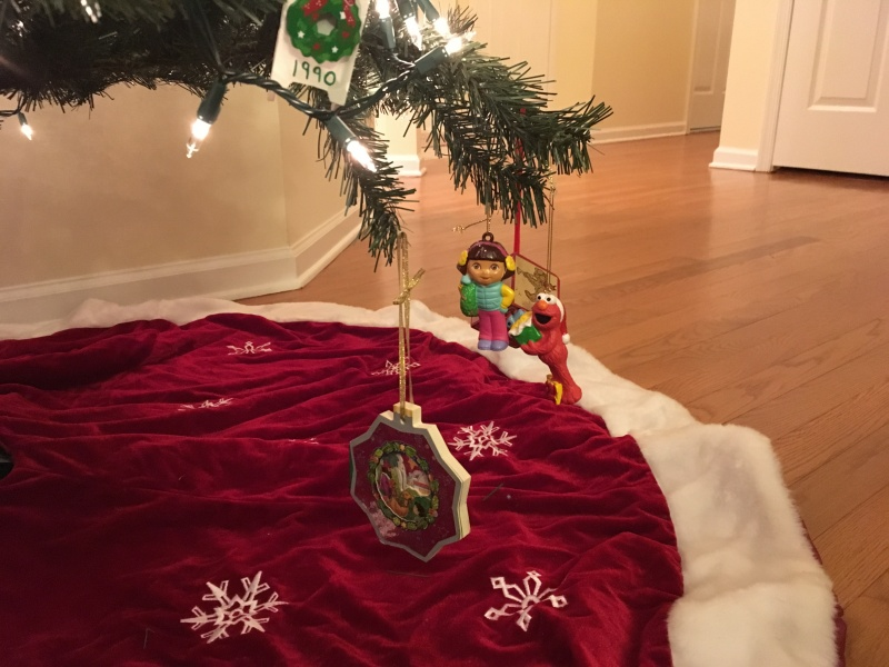 This part of the tree was personally designed by our two year old