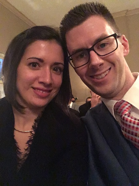 Date night at a wedding