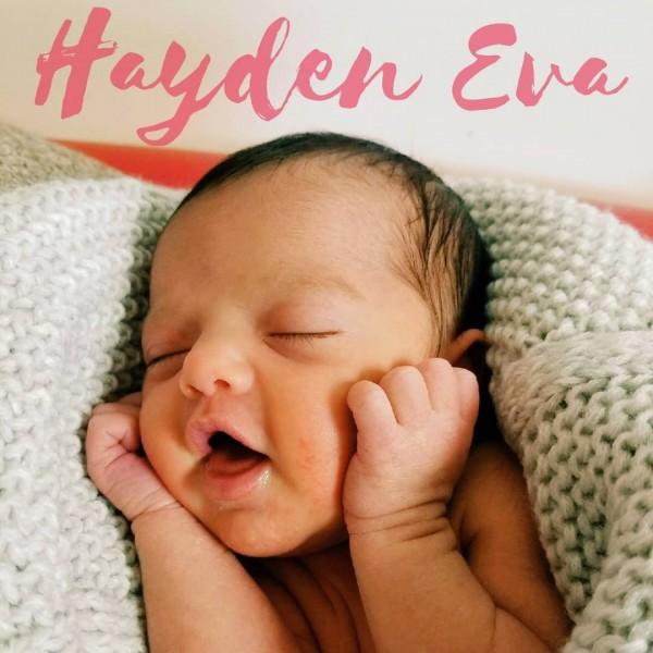 Hayden's 1st smile!