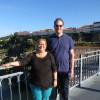 Warren and Elizabeth on the bridge over the Douro