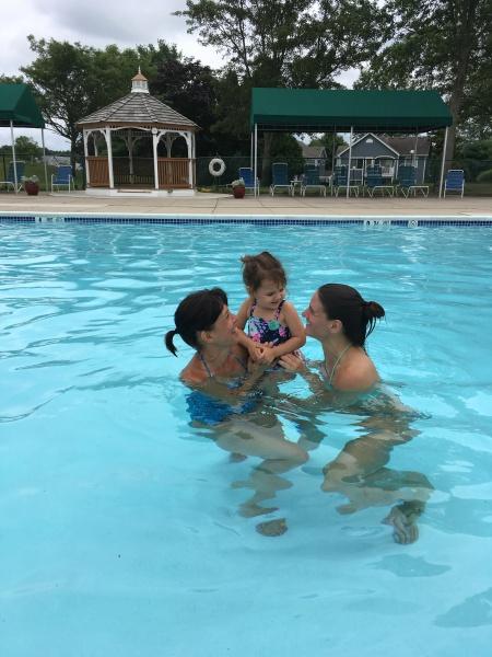 Aria with Grandma and Aunt Kristin
