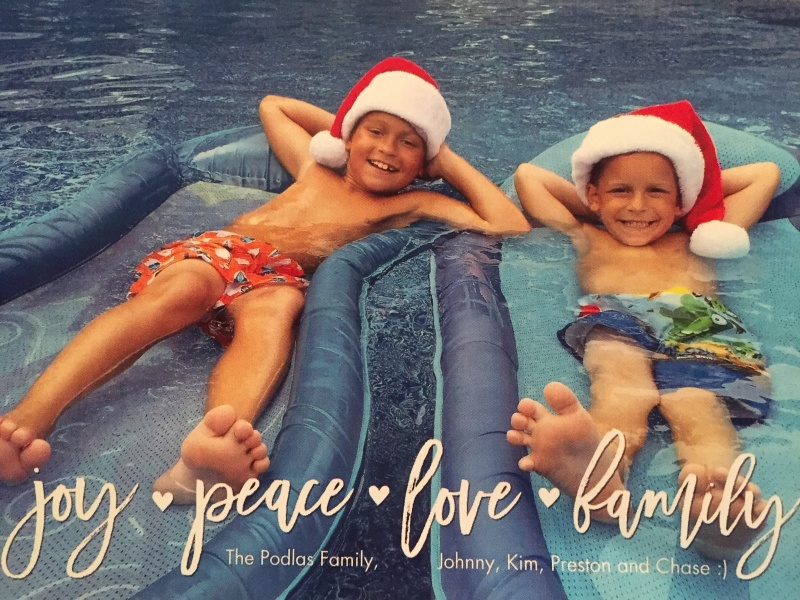 Christmas Card from our Amazing Nephews