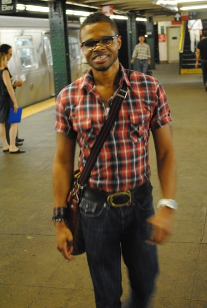 I live in the vibrant New York City surrounded by museums, theater, great food, great schools, and lots of parks.  Here I am in the subway station waiting on the train-a favorite New York pastime!