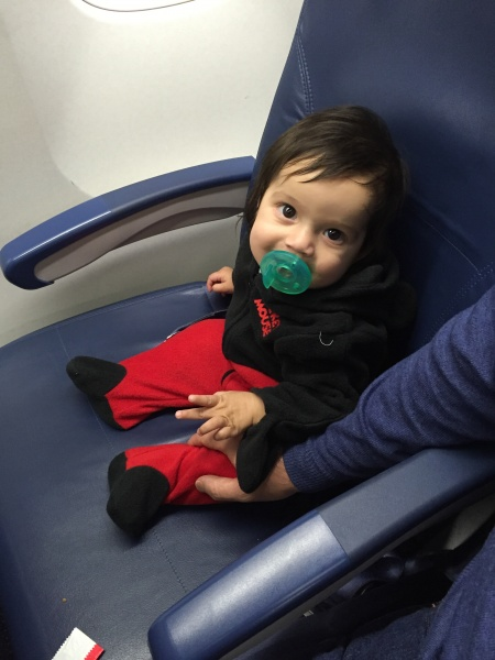 Anna's first flight