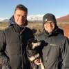 Erik, Jay, and Babbo hiking in Utah