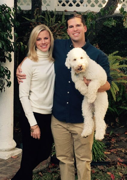 Thanksgiving at Trey's parent's house, with our lovable pup, Logan.