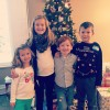 This past Christmas with his cousins.